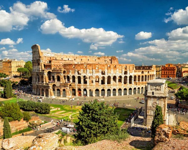 The Colosseum an the Arch of Costantine