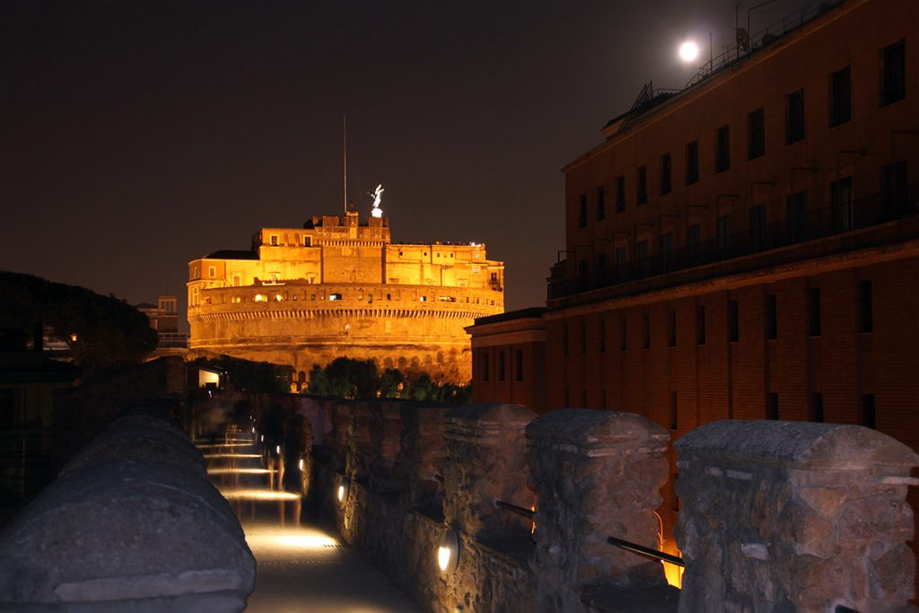 Monuments and Places to visit in rome Castel Sant'Angelo.View from passetto di Borgo