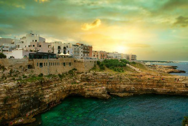 Puglia beach and culture polignano a mare panorama