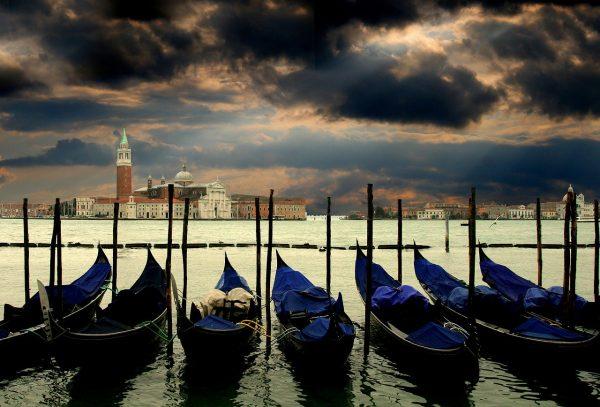 Essential Italy Escorted tour Venice gondolas Lagoon Panorama