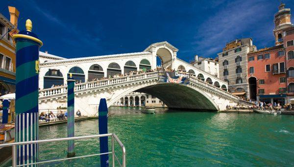 Essential Italy Escorted tour Venice Rialto Bridge Panorama