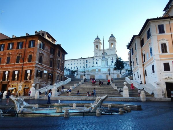 Essential Italy Escorted tour Rome Spanish Steps Panorama